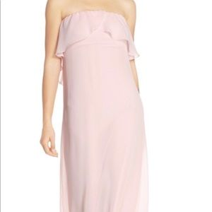 b34a9ed114 Dusty rose chiffon floor length dress